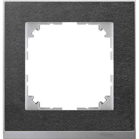 Рамка на 1 пост. Цвет Алюминий. Merten. M-Pure Decor System M. MTN4010-3669