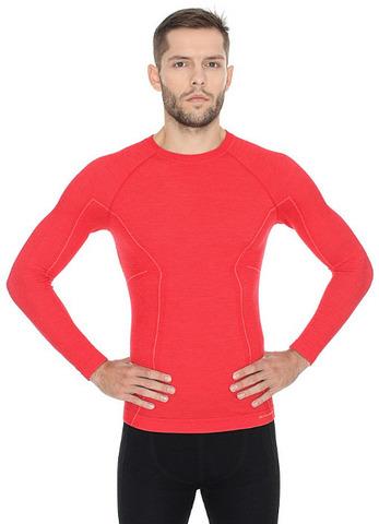 Термобелье мужское Brubeck Active Wool терморубашка красная