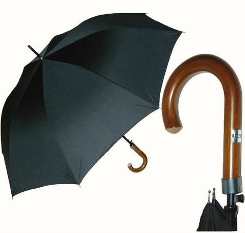 Купить онлайн Зонт-трость Ferre GF 123 Unito Nero в магазине Зонтофф.