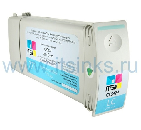 Картридж для HP 771 (CE042A) Light Cyan 775 мл