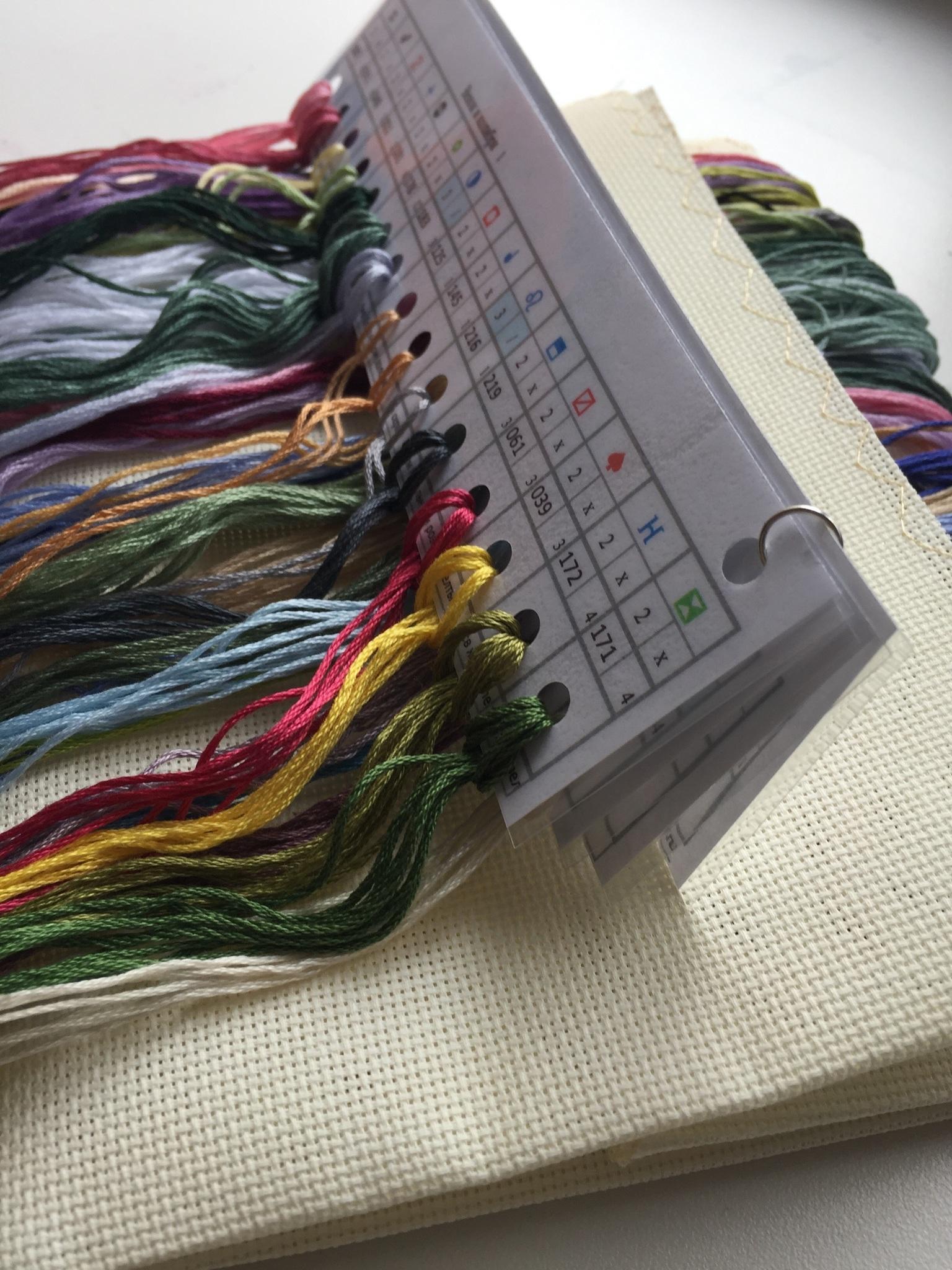 Набор для вышивания. Венок и колибри. Hummingbird Wreath. Артикул 35132