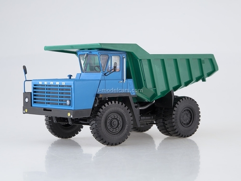 BELAZ-540A Dumper 5 grille crossbars blue-green 1:43 Dealer models BELAZ