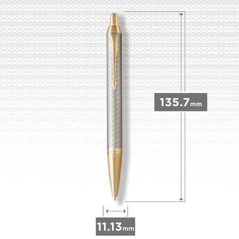 Шариковая ручка Parker IM Premium Warm Silver (grey) GT123