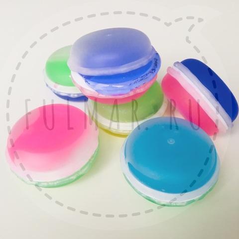 Набор Слаймы лизуны Macarons маленькие с блестками 6 штук