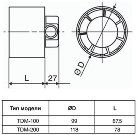Канальный вентилятор Soler&Palau TDM100Z