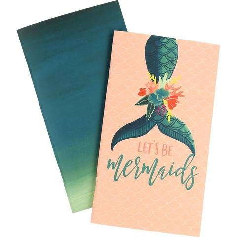 Набор внутренних блоков для тревелбука  - 11х21 см-Echo Park Traveler's Notebook - Mermaid Lined- 2 шт