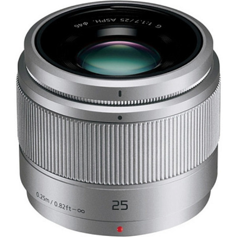Panasonic Lumix G 25mm f/1.7 G Aspherical (H-H025AE-S) Silver