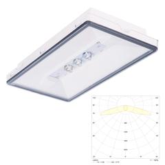 Светильник эвакуационного освещения с аккумуляторами для путей эвакуации Vella LED eco SC IP65 Intelight
