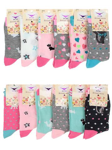 3019 носки детские (12 шт), цветные