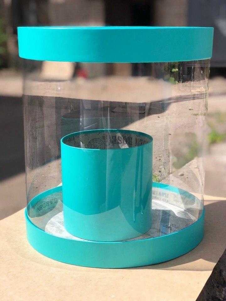 Коробка аквариум 32см Цвет :Тиффани . Розница 550 рублей .