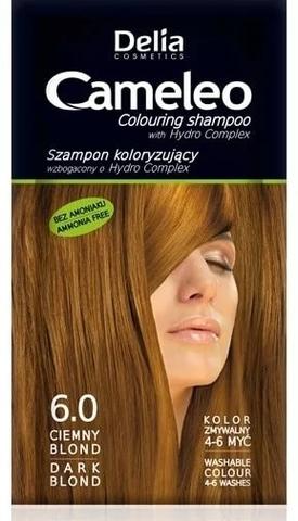 Delia Cosmetics Cameleo Оттеночный шампунь тон 6.0 темный блондин (саше 40мл)