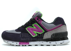 Кроссовки Женские New Balance 574 Grey Black Lilac Green