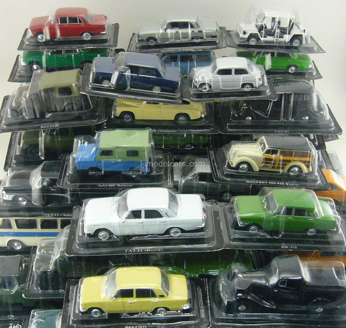 Red White And Blue Auto Sales >> DeAgostini Auto Legends USSR and socialist countries 1:43 Full Collection #1 - #230 – buy in ...