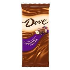 """Шоколад """"Dove"""" молочный фундук изюм 90г"""