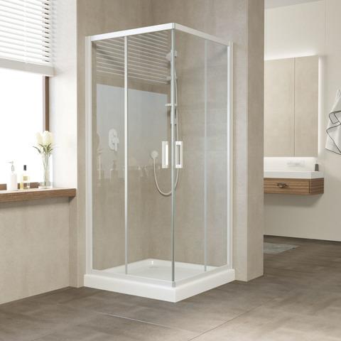 Душевой уголок Vegas Glass ZA профиль белый, стекло прозрачное