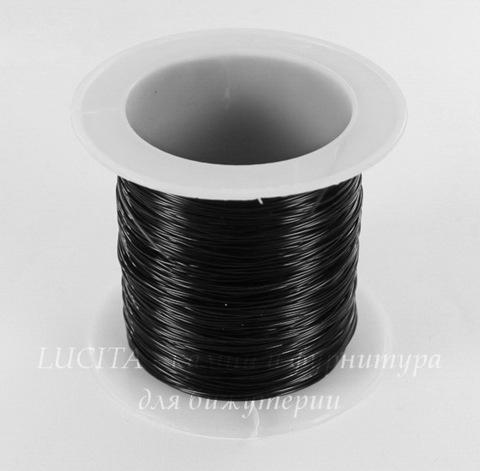 Леска для бисера и бусин, 0,4 мм, цвет - черный, примерно 35 м (Картинка)
