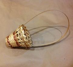 Корзина плетеная стакан с ручкой, 1 шт.