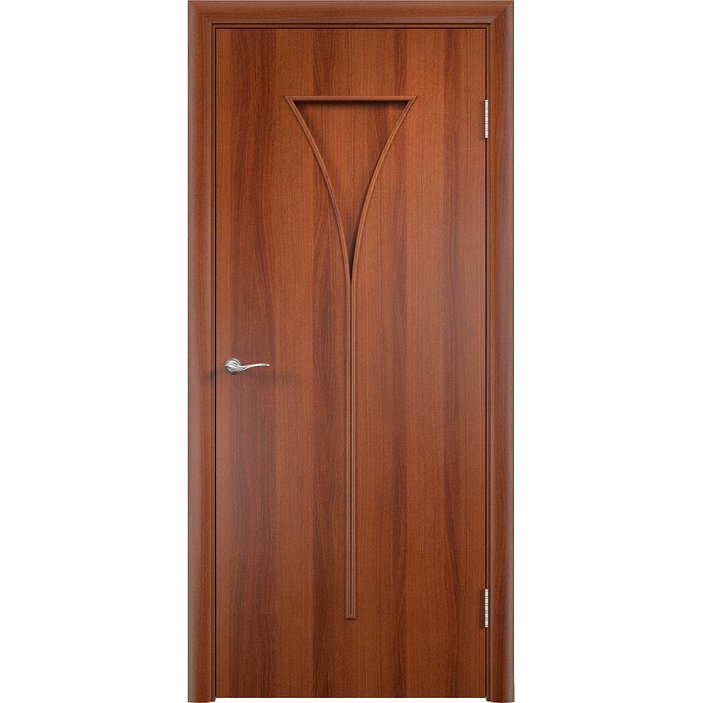 Ламинированные двери Рюмка итальянский орех без стекла rymka-pg-ital-oreh-dvertsov-min.jpg