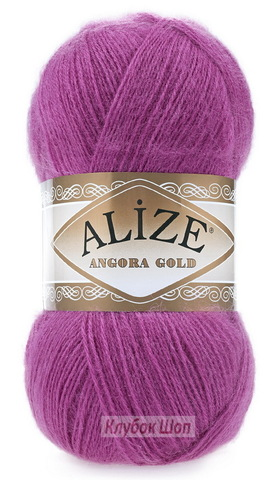 Angora GOLD Alize 46 Темно-розовый - фото