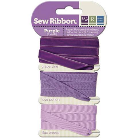 Набор лент. We R Memory Keepers Sew Ribbon - Purple 5,5м