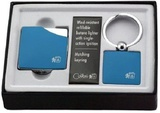 Colibri Clique Blue Rubberized & Polished Silver QTR-424004E