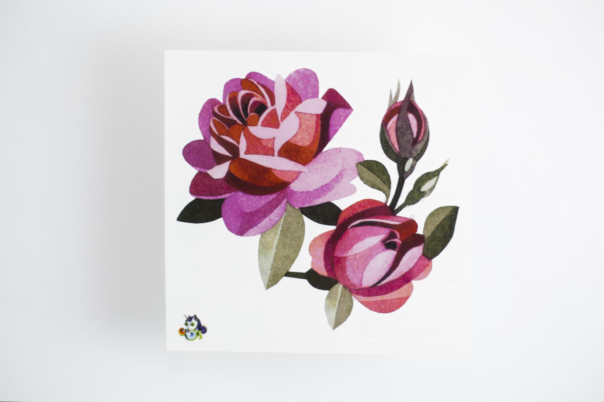 Переводная татуировка Pink Roses