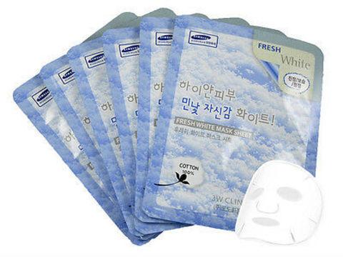 Тканевая маска осветляющая 3W Clinic Fresh White Mask Sheet