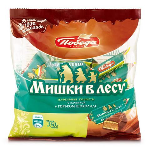 Конфеты Мишки в лесу вафельные,250гр