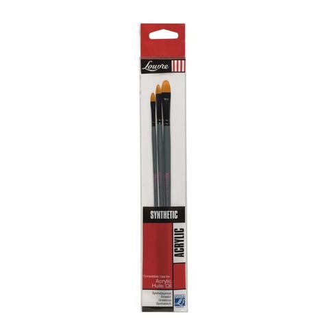 Набор кистей Lefranc&Bourgeois Louvre 3 шт [№4, 8, 12], синтетика, длинная ручка LF806745