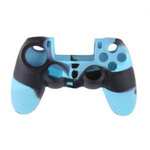Sony PS4 Чехол для геймпада DualShock 4 (камуфляж синий) + накладки