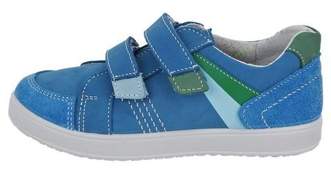 Полуботинки на липучках для мальчиков Котофей 432129-21, цвет голубой. Изображение 1 из 7.