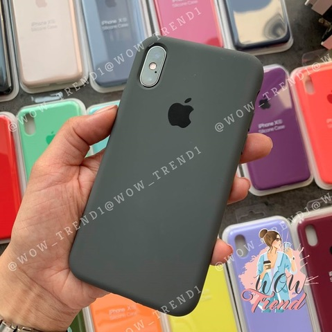 Чехол iPhone X/XS Silicone Case Full /charcoal grey/ уголь