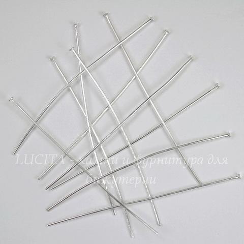Комплект пинов - гвоздиков 70х0,8 мм (цвет - серебро), 40 гр (примерно 120 шт)