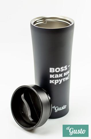 Автокружка el Gusto «BOSS - как ни крути!» grey