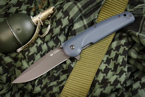 Складной нож Biker Z AUS-8 Gray Titanium