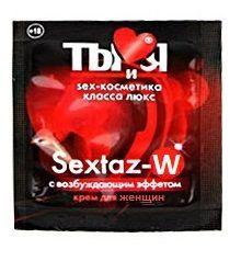 Возбуждающие: Возбуждающий крем для женщин Sextaz-W в одноразовой упаковке - 1,5 гр.