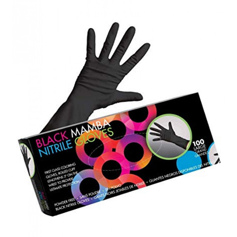 Midnight Mitts Nitrile Gloves   Перчатки черные нитриловые Midnight Mitts, размер M  (100 шт.)