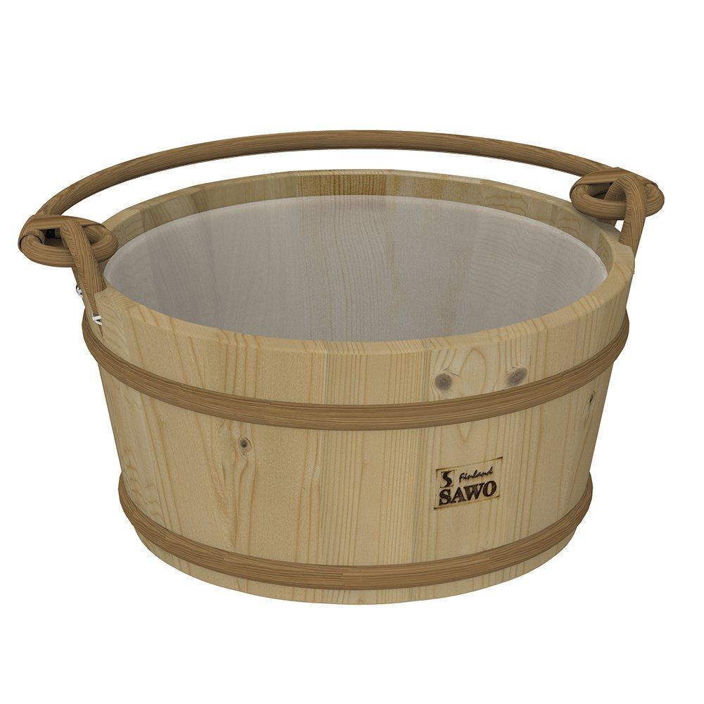 Ведра и кадушки: Ведро деревянное SAWO 300-HP (9 литров, с пластиковой вставкой) ведра и кадушки кадушка деревянная sawo 300 tp 9 литров с пластиковой вставкой