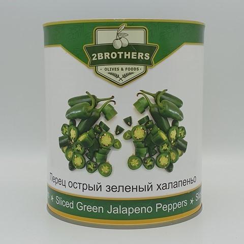 Перец острый зеленый халапеньо 2BROTHERS, 3 кг