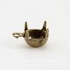 Сеттинг - основа - подвеска для страза 7 мм (оксид латуни)