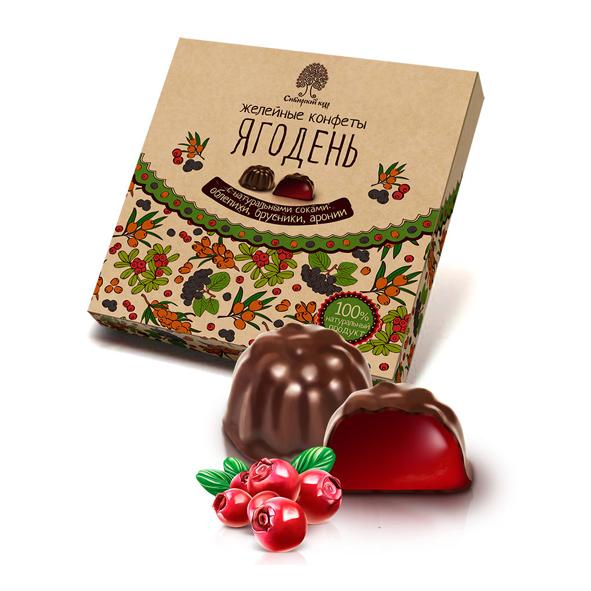 Мармелад Ягодень в шоколаде ассорти Сибирский Кедр 200 г