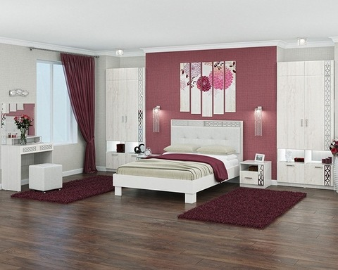 Спальня модульная БЕЛЛА-2 рамух