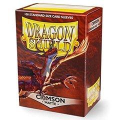 Dragon Shield - Багровые матовые протекторы 100 штук