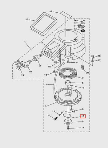 Пружина стартера  для лодочного мотора T15, OTH 9,9 SEA-PRO (7-10)