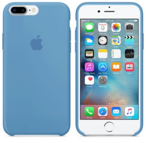 iPhone 7Plus/8Plus Silicone Case Denim Blue