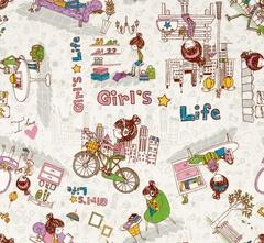 Микровелюр Girls Life (Герлс Лайф) 01