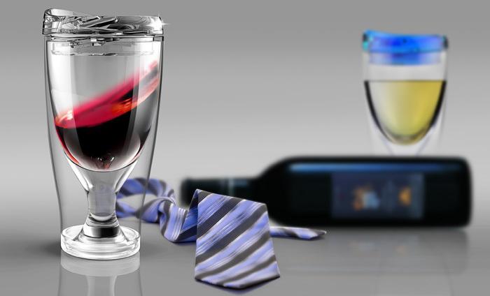 Бокал Asobu Ice vino 2go (0,48 литра) розовая