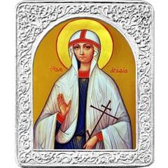 Святая Агафия. Маленькая икона в серебряной раме.
