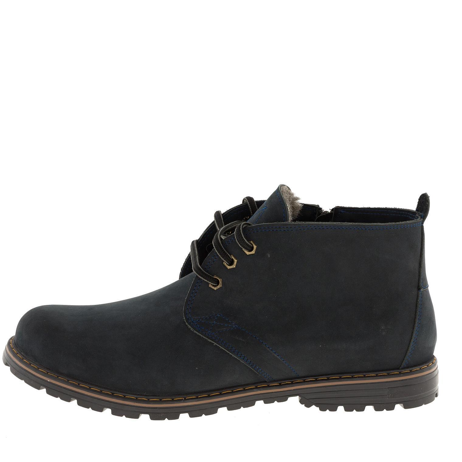566483 ботинки мужские синие байка больших размеров марки Делфино