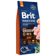 Корм для собак с высокой активностью, Brit Premium By Nature Sport